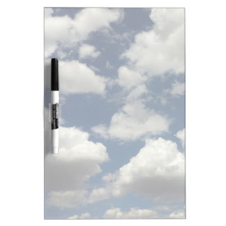 Beautiful Blue Sky with Puffy White Clouds Dry Erase Boards