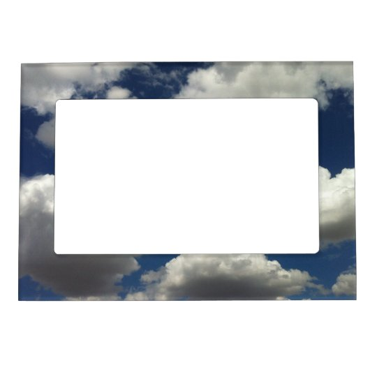 Beautiful Blue Sky with Puffy White Clouds Photo Frame Magnets