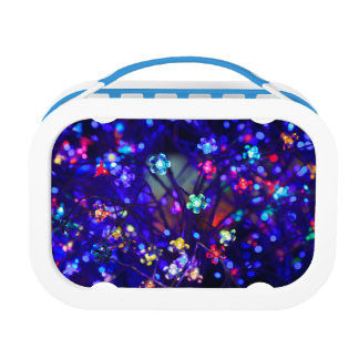 Beautiful Blue Sparkle Flower Lunchbox