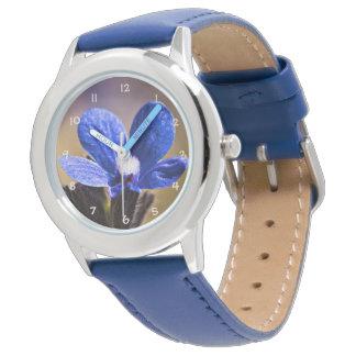 Beautiful Blue Spring Flower Wrist Watches