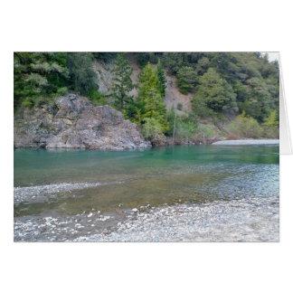 Beautiful Blue Stream in Northern California Card