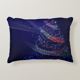 Beautiful Blue Tree Decorative Pillow