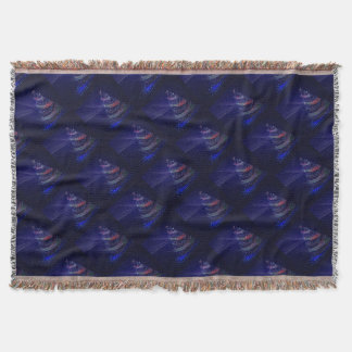 Beautiful Blue Tree Throw Blanket