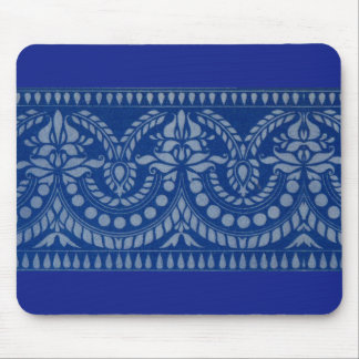 beautiful blue Victorian decor print Mouse Pad