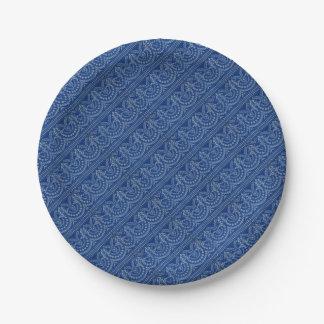 beautiful blue Victorian decor print Paper Plate
