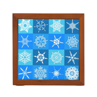 Beautiful blue white Abstract Art Ice Cubes Pencil/Pen Holder
