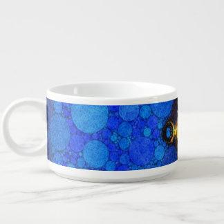 Beautiful Blue Yellow Abstract Chili Bowl