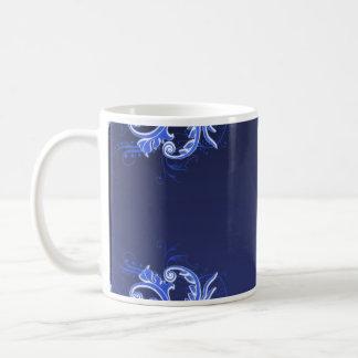 Beautiful bluish floral wedding gift mug