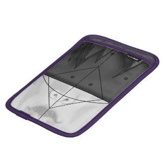 Beautiful BnW Fractal Feathers for Major Motoko iPad Mini Sleeves