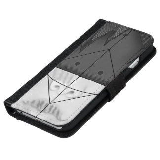 Beautiful BnW Fractal Feathers for Major Motoko iPhone 6 Wallet Case