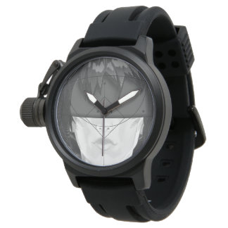 Beautiful BnW Fractal Feathers for Major Motoko Watch