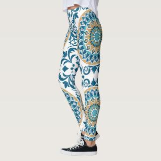 Beautiful Bohemian Embroidery Design Leggings