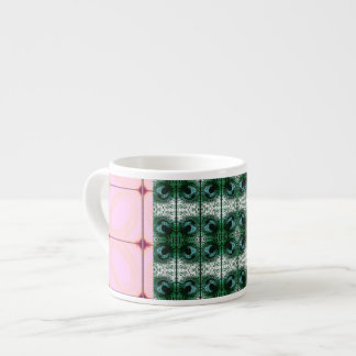 Beautiful Boho Expresso cup pink and green