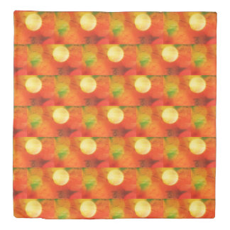 Beautiful bokeh polka dot batik effect design duvet cover