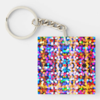 Beautiful Bokeh Single-Sided Square Acrylic Keychain