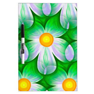 Beautiful Bold Daisies Dry Erase Board