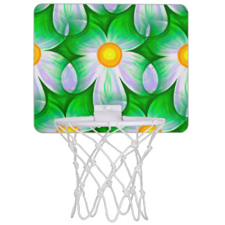 Beautiful Bold Daisies Mini Basketball Hoop