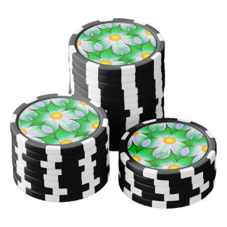 Beautiful Bold Daisies Poker Chips