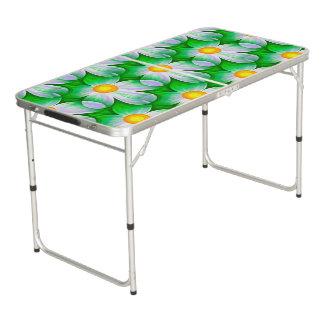 Beautiful Bold Daisies Pong Table
