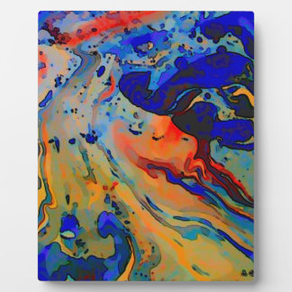 """""""beautiful bold marbling image"""" plaque"""