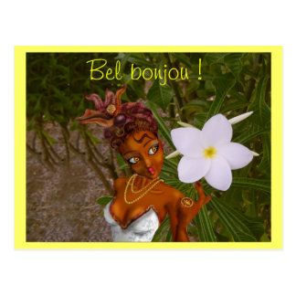 Beautiful bonjou! postcard