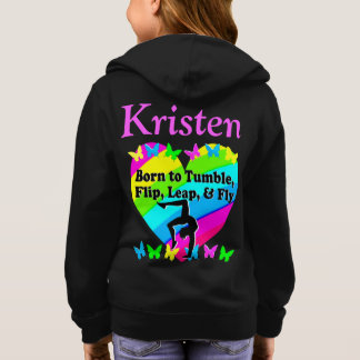 BEAUTIFUL BORN TO TUMBLE PERSONALIZED HOODIE