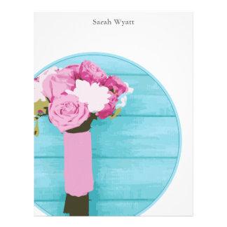 Beautiful Bouquet of Flowers Custom Letterhead