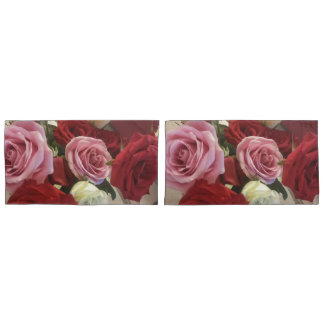 Beautiful Bouquet of Roses Print Pillow Cases