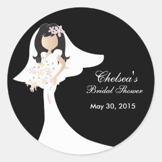 Beautiful Bride Bridal Shower Classic Round Sticker