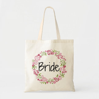 Beautiful Bride Floral Tote