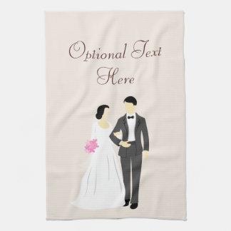 Beautiful Bride & Groom Wedding Kitchen Towel