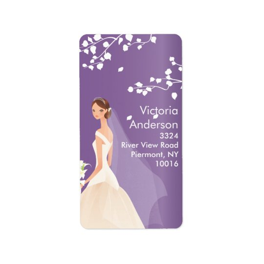 Beautiful Bride Return Address Labels.