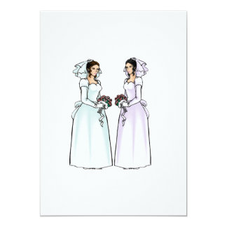 "Beautiful Brides in Love 5"" X 7"" Invitation Card"