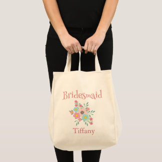 Beautiful Bridesmaid Floral Tote Bag
