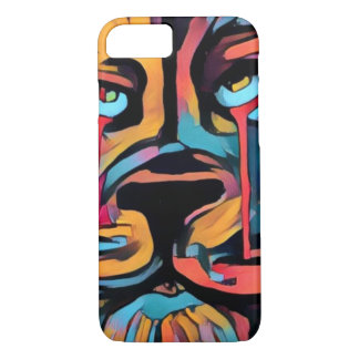 Beautiful bright bold lion face iPhone 8/7 case