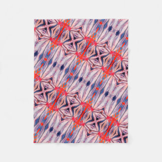 beautiful bright pattern fleece blanket