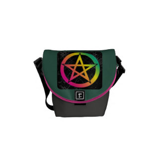 Beautiful bright pentacle courier bag