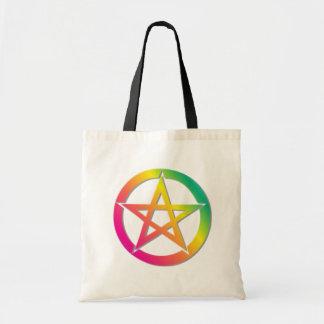 Beautiful bright pentacle tote bag