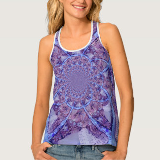 Beautiful bright, purple kaleidoscope tank top