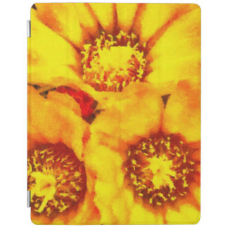 Beautiful bright yellow flowers iPad cover