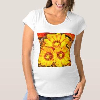 Beautiful bright yellow flowers maternity T-Shirt