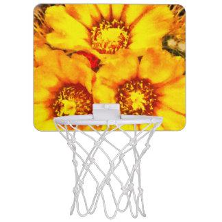 Beautiful bright yellow flowers mini basketball hoop