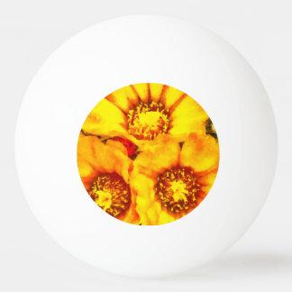Beautiful bright yellow flowers ping pong ball