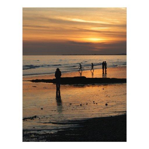 Beautiful Brighton Sunet Beach Custom Letterhead