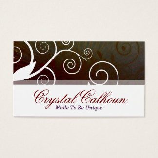 Beautiful Brown Curly Customizable Business Card
