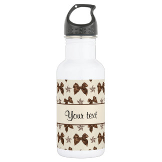 Beautiful Brown Satin  Bows 532 Ml Water Bottle