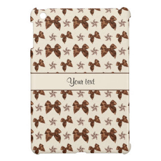 Beautiful Brown Satin  Bows Cover For The iPad Mini