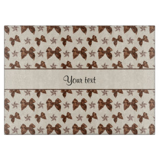 Beautiful Brown Satin  Bows Cutting Board
