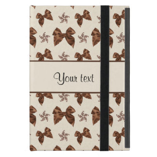 Beautiful Brown Satin  Bows iPad Mini Cover