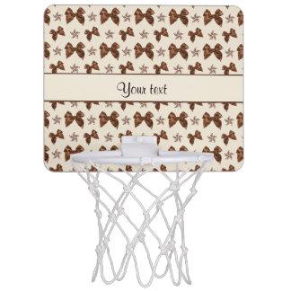 Beautiful Brown Satin  Bows Mini Basketball Hoop